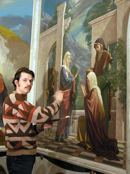 Сайт Полины и Дмитрия Лучановых. На росписи православного храма