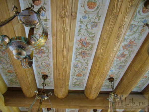 Сайт Полины и Дмитрия Лучановых. потолок в деревянном доме