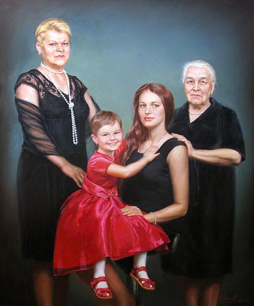Сайт Полины и Дмитрия Лучановых. семейный портрет живопись