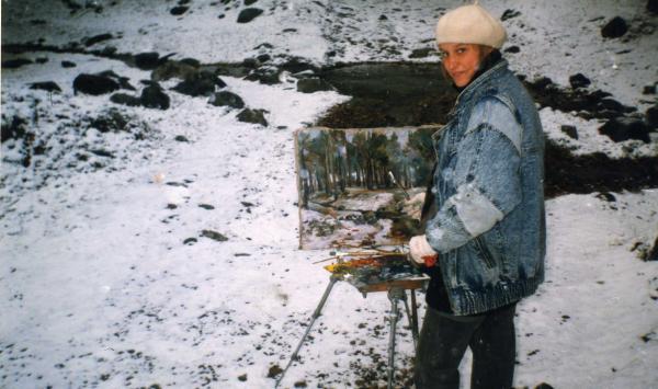 Сайт Полины и Дмитрия Лучановых. 1996 На этюдах