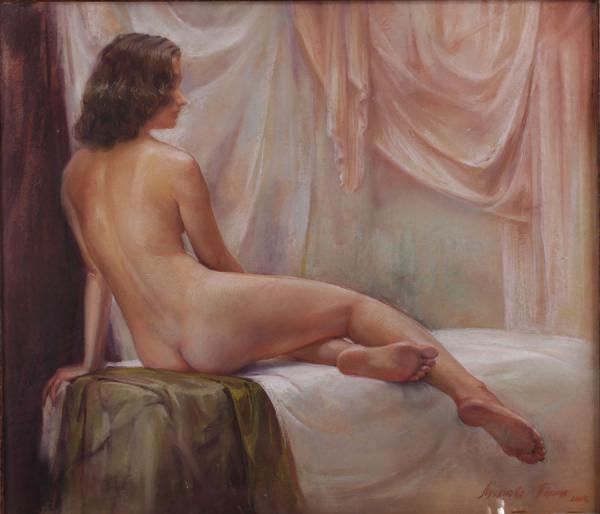Сайт Полины и Дмитрия Лучановых. Ню 1 (картон, пастель 70-90см.) 2004