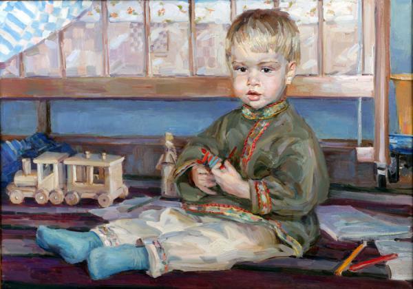Сайт Полины и Дмитрия Лучановых. портрет сына . х.м. 70-90см. 2007