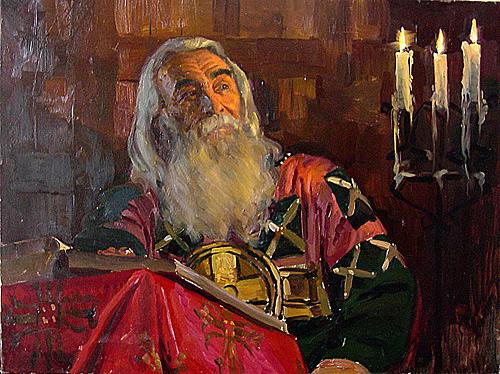 Сайт Полины и Дмитрия Лучановых. Летописец х.м.50-70 см 2003