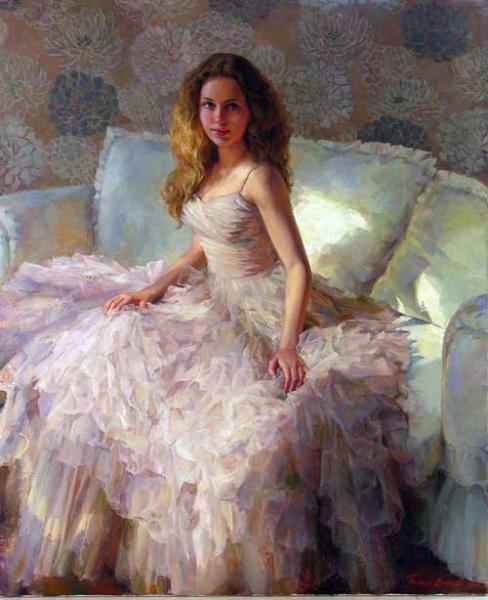 Сайт Полины и Дмитрия Лучановых. Наташа хм.130х170см 2012(портрет в натуральную величину)