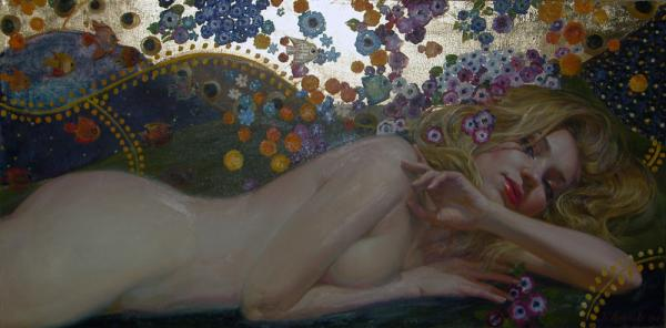 Polina & Dmitry Luchanov. Nude-in-style-Klimt (2)