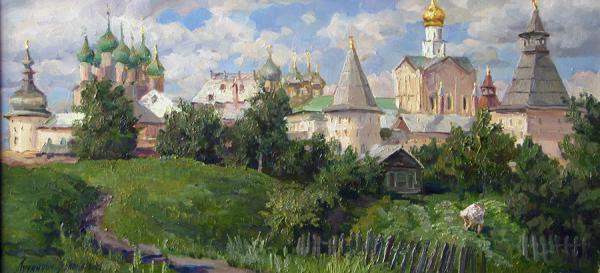 Сайт Полины и Дмитрия Лучановых. Ростовский кремль (30-60см. х.м. ) 2008