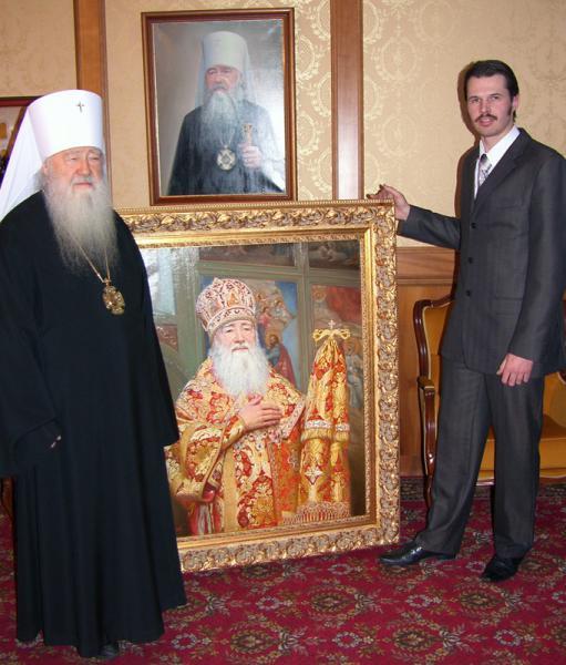 Сайт Полины и Дмитрия Лучановых. Вручение портрета Ювеналию епископу Крутицкому и Коломенскому 2006