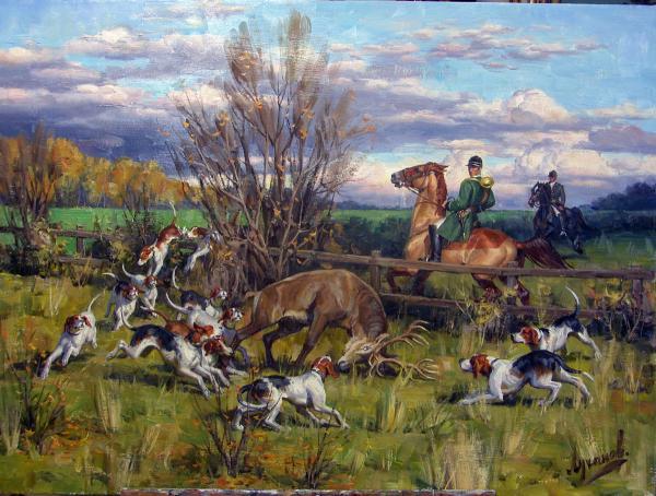 Сайт Полины и Дмитрия Лучановых. охота на оленя 100-120см 2017