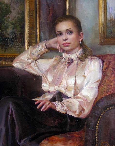Сайт Полины и Дмитрия Лучановых. Анна. (портрет в стил старых мастеров) х,м. 80х60 см 2015