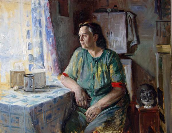 Сайт Полины и Дмитрия Лучановых. эскиз портрета матери 60-70см х.м. 2006