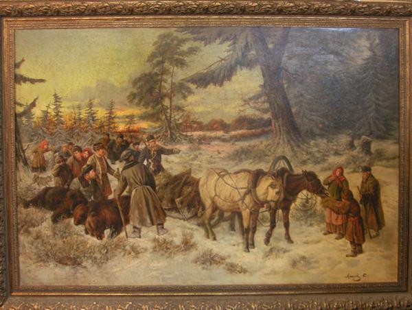 Сайт Полины и Дмитрия Лучановых. копия картины в музее 120х185см