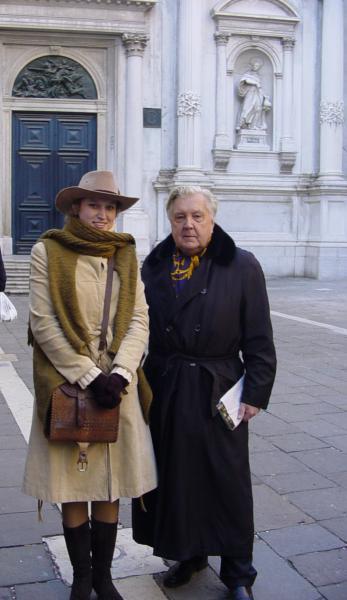Сайт Полины и Дмитрия Лучановых. я с Глазуновым И.С. в Венеции 2005