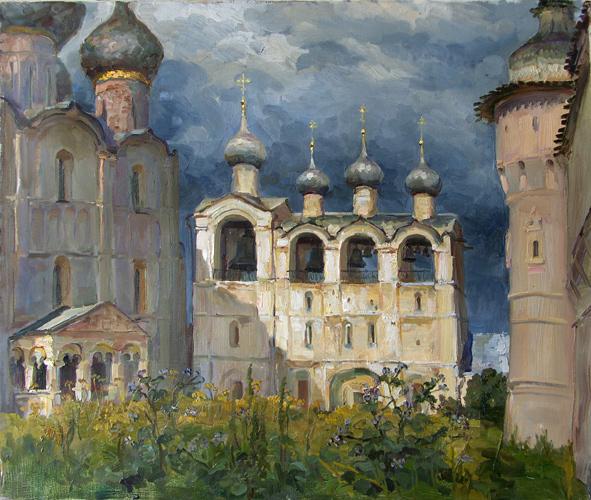 Сайт Полины и Дмитрия Лучановых. звонница Ростовского кремля( х.м.60-70см) 2008