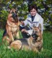 Сайт Полины и Дмитрия Лучановых. Портрет с любимми собаками 80х100см. 2012